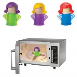 Microwave Oven Steam Cleaner Angry Mama Steam Cleans and Disinfects With Vinegar Water 4 Colors