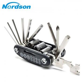 16 In 1 Multi-Function Motorcycle Bike Repair Tools Travel Kit Allen Key Multi Hex Wrench Screwdriver Kits Moto Tools10004