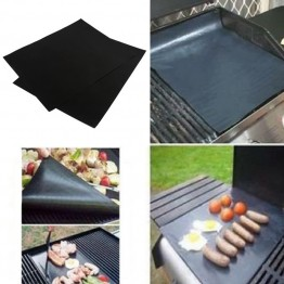 2Pieces BBQ Grill Mat Sheet Hot Plate Portable Easy Clean Outdoor Nonstick Bakeware Cooking Tool BBQ Accessories Buy1-Get1 4 pieces