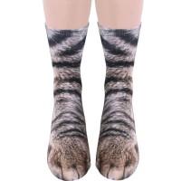 Crazy Animal Socks - 3D Animal Paw Socks harajuku kawaii Cute Cotton funny Socks women men Children kid Dog Horse Pig Cat Paw animal print meia punk