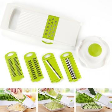 7Pcs/set Multi Mandoline Vegetable Slicer Stainless Steel Cutting Vegetables Grater Creative Kitchen Gadget Carrot Potato cutter10033