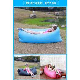 New 2017 Air Mattress-Inflatable Outdoor lazy sofa sleeping bag portable folding rapid air inflatable sofa Adults Kids Beach blow-up lilo bed