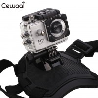 Camera Mounting Dog Harness Chest Strap - GoPro Dog Harness Sport Camera Elastic Band Back Chest Strap Belt for Small Large Dogs Outdoor Walking Surfing Pet Supplies