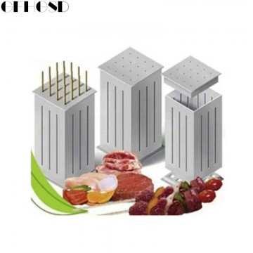 Easy Barbecue Kebab Maker Meat Brochettes Skewer Machine Bbq Grill Accessories Tools Set10089