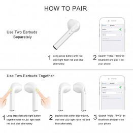 Invisible Bluetooth Earbuds - I8x I7 Wireless Earphones Bluetooth Headsets In-Ear Invisible Earbuds with Mic for IPhone X 8 7 Plus 6 6s Samsung S8 Xiaomi