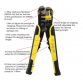 Multi functional Crimping Stripping Pliers Cable Wire Stripper Cutter Crimper Automatic Tools Electric10054