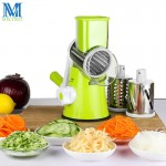 Round Drum Slicer Multifunctional Mandoline Slicer Manual Drum Vegetable Shredder Potato Julienne Carrot Cheese Grater Round Stainless Steel Blade