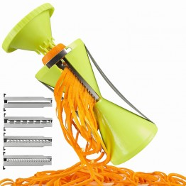 4-Blade Vegetable Spiralizer Slicer Grater Vegetable Spiralizer Peeler Spiralizer for Carrot Cucumber Courgette Zucchini