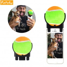 Dog Selfie Attachment - Petshy Squeak Pet Dog Toys Interactive Tennis Self Timer Ball Puppy Cat Chew Bite Toy Pet Supplies For Small Medium Large Dogs
