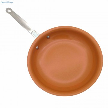 Non-stick Copper Frying Pan with Ceramic Coating and Induction cooking,Oven & Dishwasher safe 8 10 & 12 Inches10075