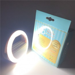 Super Selfie Light - Universal LED Photography Flash Ring Selfie Light for Photo Luminous annular Lamp Night Smartphone LED Ring For xiaomi Phone
