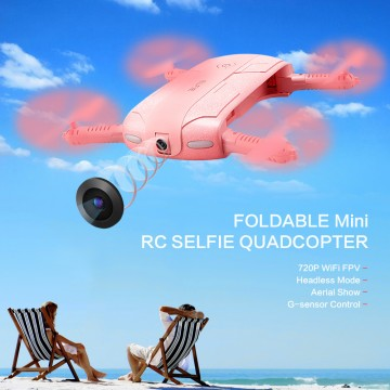Foldable Mini Selfie Drone JJRC H37 ELFIE LOVE RC Drone Foldable Mini RC Selfie Quadcopter WiFi FPV 720P HD G-sensor Headless Mode Drones Control By Phone10021