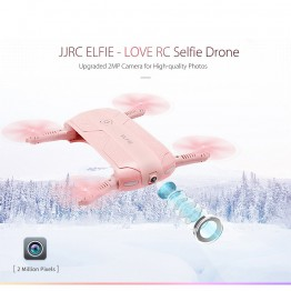 Foldable Mini Selfie Drone JJRC H37 ELFIE LOVE RC Drone Foldable Mini RC Selfie Quadcopter WiFi FPV 720P HD G-sensor Headless Mode Drones Control By Phone