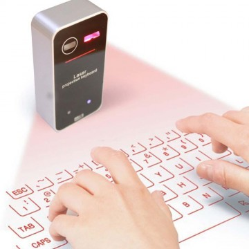 Laser Virtual Keyboard Bluetooth Laser Projection Keyboard for Smartphone PC Tablet Laptop Computer English QWERTY keyboard