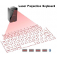 Laser Virtual Keyboard Bluetooth Laser Projection Keyboard for Smartphone PC Tablet Laptop Computer English QWERTY keyboard10011