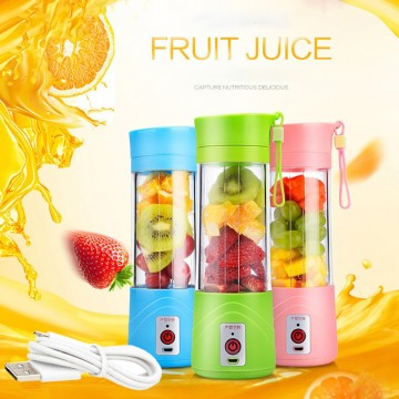 Mini Portable USB Rechargeable Electric Fruit Juicer Cup Milkshake Smoothie Maker Blender Fruit Vegetable Tools Kitchen Gadgets10019