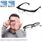 Perfect Vision - #1 Glasses for Phones Tablets Laptops & Desktops! Original Dial Adjustable Lens Eye Glasses fro Men Women - 6D To +3.5D PVC Reader Glasses Myopia Eyeglasses10012