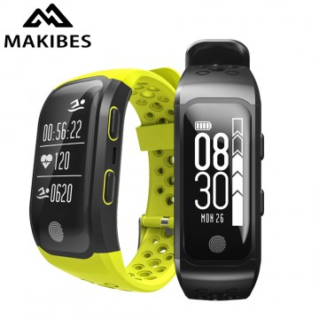 Smart Makibes G03 Bracelet IP68 Waterproof Smart Band Heart Rate Monitor Call Reminder GPS chip S908 Sports Bracelet10003
