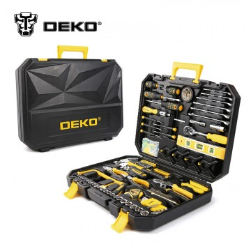 Ultimate Hand Tool Kit DEKOPRO 168 Pcs Hand Tool Set General Household Hand Tool Kit with Plastic Toolbox Storage Case Socket Wrench Screwdriver Knife10025
