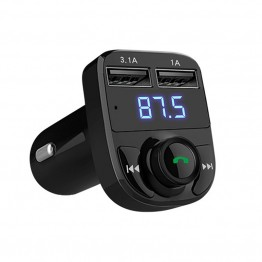Universal Bluetooth Car Kit Handsfree Set FM Transmitter MP3 Music Player 5V 4.1A Dual USB Car Charger Support TF Card 1G-32G Car-Styling